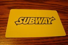 SUBWAY GIFT CARD NO VALUE-Never Used or Activated Collectable 2012 New