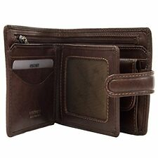 Visconti Tuscany 42 Secure RFID Blocking Genuine Leather Wallet (Tan)
