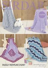 Sirdar 4727 Snuggly Snowflake Chunky Baby Blankets Original Crochet Pattern