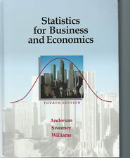 Statistics for Business and Economics 4th Edition 1991 Hardcover Book