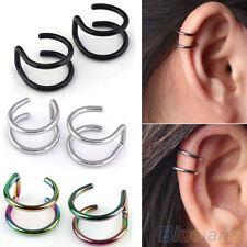 KE_  Men's Women's Dramatic Clip-on Earrings Ear Cartilage Cuff Eardrop Ear Cl