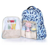 Multifunction Backpack Baby Nappies Changing Bag Diaper Bag W/ Insulation Bag