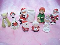 VTG LOT 9 Christmas Santa Shakers Planter Angels Ornaments Bells Figurines JAPAN