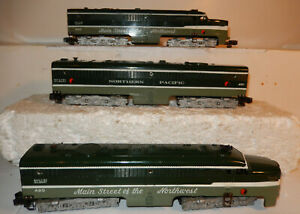 American Flyer Rare Northern Pacific Diesel Set 490, 491 & 493 1956 Only