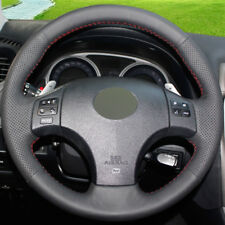 DIY Steering Wheel Cover Black Leather Hand Sewing For Lexus is250 is300 is350