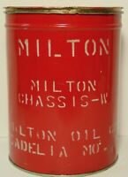 Old Vintage 1950s Milton Oil Company Grease Oil Gas Can Tin Sedalia Missouri MO