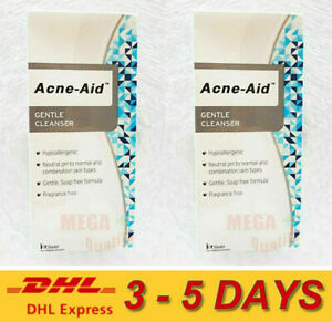 2x Stiefel Acne-Aid Liquid Cleanser Cleaning Pimple Oil Dry Sensitive Skin 100ml