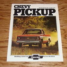 Original 1974 Chevrolet Pickup Sales Brochure 74 Chevy
