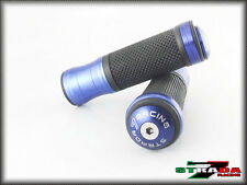 Strada 7 CNC Blue Grips & Bar Ends Combo Suzuki GSX1250 F SA GSF1250 BANDIT
