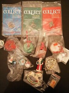 Christmas ornaments lot life saves santa
