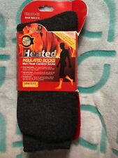 UNISEX GRAY -SOLE TRENDS HEATED INSULATED SOCKS X-TRA THICK 2.3 TOG SIZE 10-13