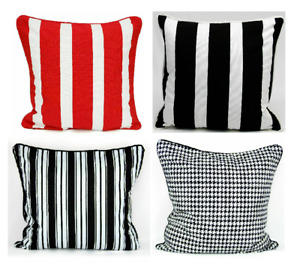 Beautiful Stripe Decorative Luxurious Soft Cotton Printed Cushion Cover or Inner