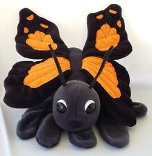 Vtg Monarch Butterfly Hand Puppet Plush Creations Stuffed Animal Soft Glove