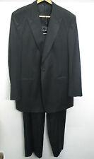 vtg Saxton Vitale Barberis Canonico Black Tuxedo 2 pc Surgeon Cuff Suit sz 46 L