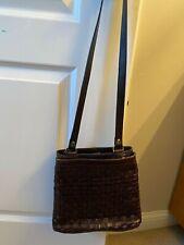 Heritage by Etienne Aigner Brown Weave Pattern Purse