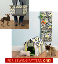 SEWING PATTERN! MAKE DOGHOUSE~MAT~ORGANIZER~STORAGE~TOY~BAG! TEA CUP~SMALL DOGS