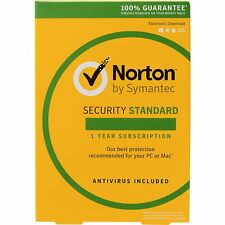 Symantec Norton Internet Security Standard 2017 Antivirus 2 Users 1 Year PC MAC