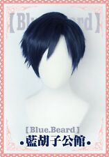 My Boku no Hero Academia Iida Tenya Dark blue Short Cosplay hair wig+track No.