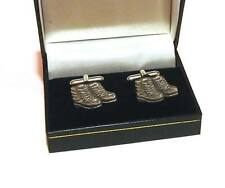 Walking Boots Pewter Cufflinks Hiking Ramblers Great Gift Suit Any Occasion NEW