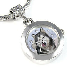 Alaskan Malamute Silver Charm Bead Watch Fit European Bracelet Necklace EBA160