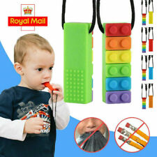 Kids Baby Chewy Necklace Anti Autism ADHD Biting Sensory Chew Teething Toys LM