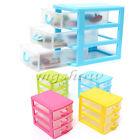 Desktop Cabinets Storage Box Case Jewelry Holder Bins Three 3 Drawers Organizer