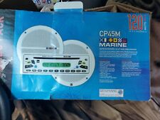 CP45M MARINE STEREO RECEIVER & 2 - Cone Speakers AM/FM/CD