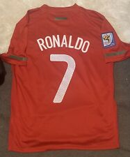 2010 Portugal Home Jersey #7 Ronaldo Medium Nike Soccer World Cup CR7 NEW