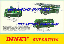 Dinky Toys 967 968 969 BBC TV Vehicles A4 size Poster Leaflet Sign Advert