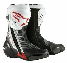 *** NEW *** Alpinestars Supertech R Leather 7.5 Boots Motorcycle Black/Red/White