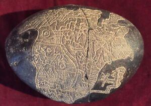 "Unique Big Original Ica's Stone ""Map"", Peru"