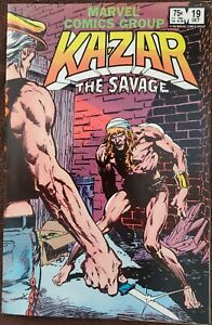 Kazar the Savage #19 VF+ 8.5 (Marvel 1982) Guest: Kraven the Hunter!