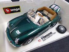 1/18 Burago 1961 Porsche 356B Cabriolet (Green) Diecast Car