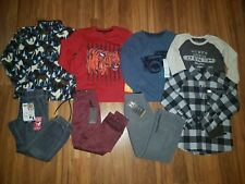 NWT BOYS' CLOTHES LOT ~SIZE 6, 5/6~  WINTER/ SPRING L/S SHIRT PANTS HOODIE LT1