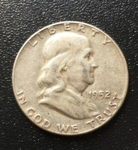 1952-P 50C Franklin Half Dollar AU - BU 90 Percent Silver