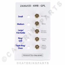 SET OF 5 x ZANUSSI LPG PROPANE GAS BURNER INJECTOR JET KIT THREAD M6 x 0.75