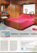 D- Publicité Advertising 1966 Mobilier meubles lit chambre à coucher DF