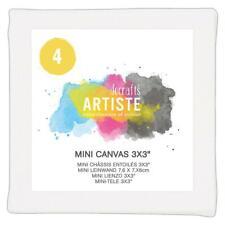 "Docrafts Artiste Mini Canvas 3 x 3"" Set of 4"