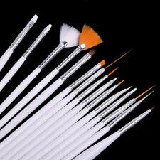 SET 15 PENNELLI RICOSTRUZIONE UNGHIE NAIL ART SET GEL UV PROFESSIONALE MAKE UP