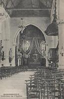 1910's VINTAGE POSTCARD - INSIDE the CHURCH of WORMHOUDT INTERIEUR de l'EGLISE