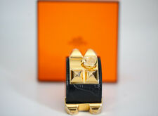 hermes Collier de Chien in Alligator Crocodile Gold hardware CDC bracelet BNIB