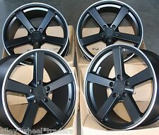 "19"" BLACK FOX MS003 5 SPOKE ALLOY WHEELS FITS VW T5 T6 T28 T30 T32 VAN AMAROK"