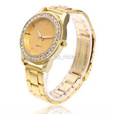 Stainless Steel Goldern Men Luxury  Metal Causal Wrist Watch Analog Quartz