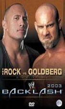 WWE Backlash 2003 Orig DVD WWF Wrestling The Rock vs Goldberg