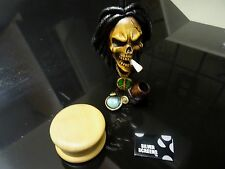 Rasta Skull + Grinder Tobacco Pipe + 5 Screens < glass alternative  PM 1202+G