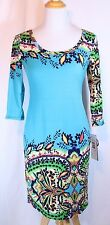 Robbie Bee USA  Size S Boho Hippy Paisley Floral Print Mood Dress Multi-Color