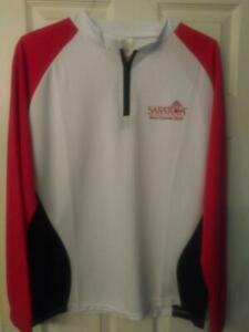 SARATOGA RACE COURSE *SGA* Long sleeve 1/4 Zip Lightweight Jacket (L) Coca-Cola