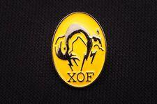 Metal Gear Solid XOF Logo Metal Pin - Snake Phantom Pain 2 3 4 V - VERY RARE