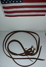 Heavy Duty 5/8� x 7' Split Bridle Reins Leather Brown, with gold snap . New
