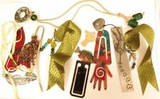 Pretty 10pcs Assorted Metal, Cloth, Dangling Bead Bookmarks Lot*Fish*Bird*A542